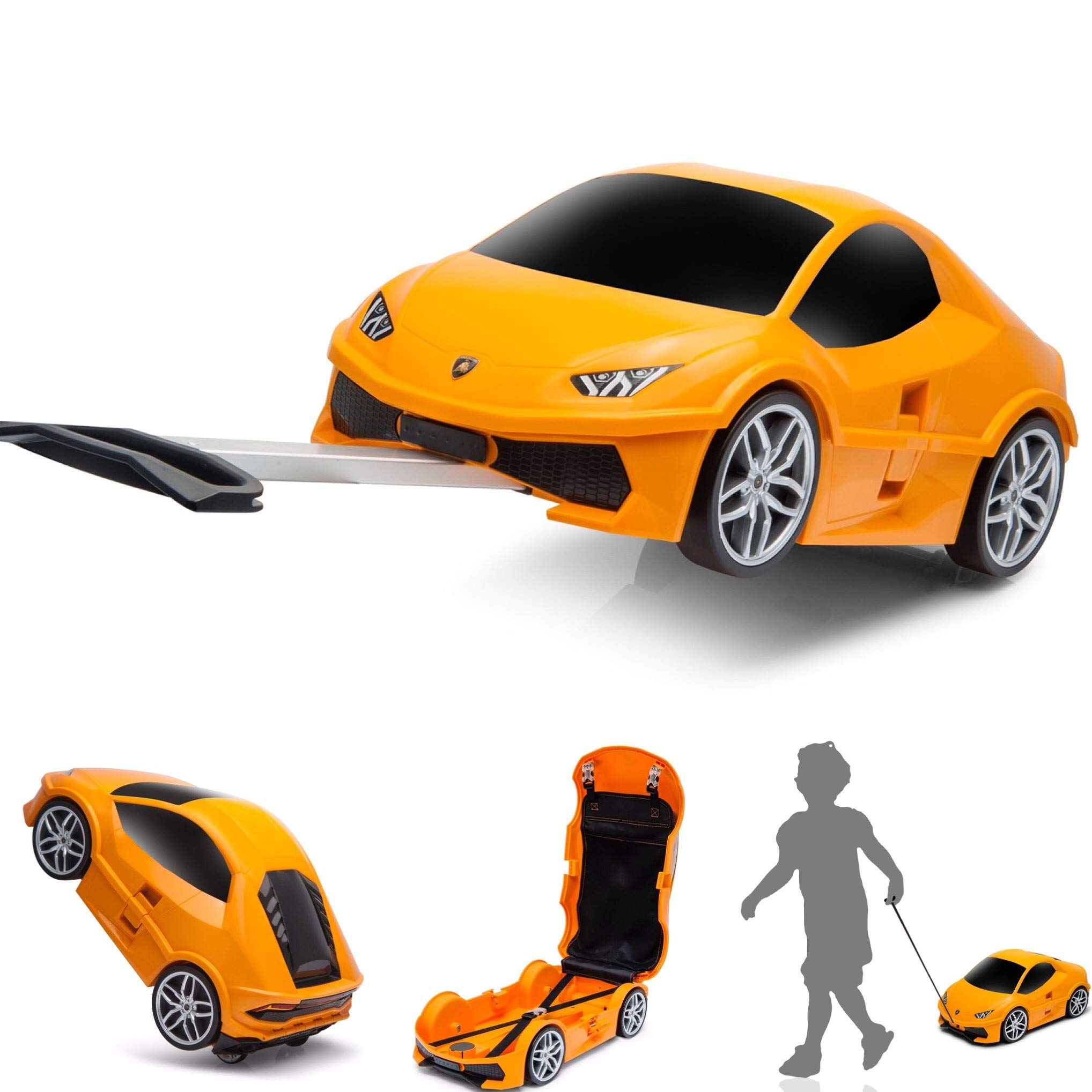 Ridaz Lamborghini Huracan Carry-on Hand Luggage for kids, (Officially Licensed by Lamborghini) Orange Lamborghini by Ridaz (Image #1)