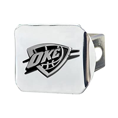 FANMATS NBA Oklahoma City Thunder Chrome Hitch Cover: Automotive