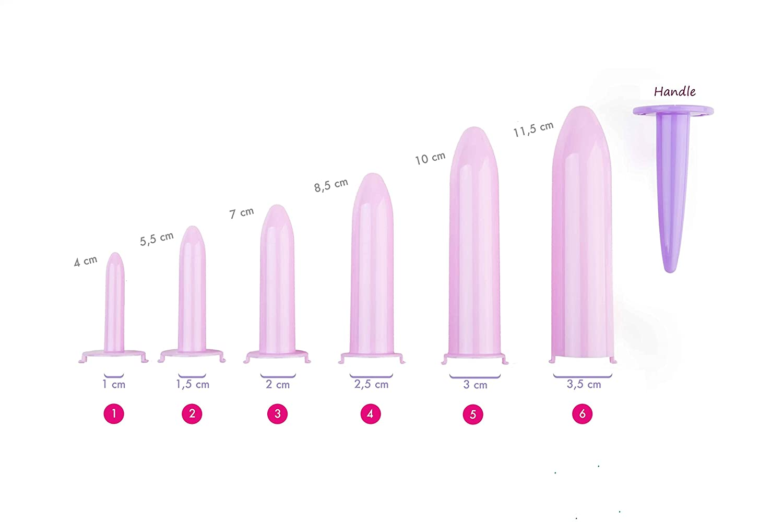 Kit Velvi - 6 Dilatadores vaginales (1,2,3,4,5,6)