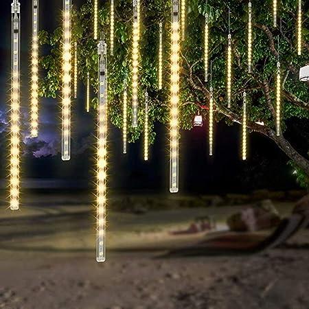 KKGG Lluvia DE METEORITOS - Luces de jardín Impermeables LED Luces de caída Luces de Lluvia Iluminación de Vacaciones para jardín de Bodas Luces de decoración de Fiesta de San Valentín: Amazon.es:
