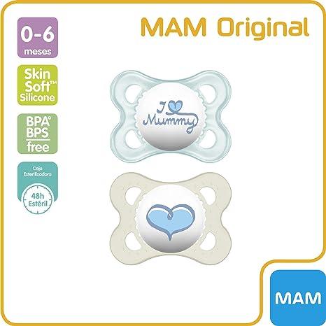 MAM Original 0+ (2 unidades), Chupete de silicona para ...