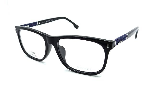 Amazon.com: Diesel Rx Eyeglasses Frames DL5157-F 001 58-17-150 Shiny ...