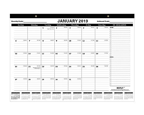Amazon.com: Befly - Calendario mensual de escritorio o ...