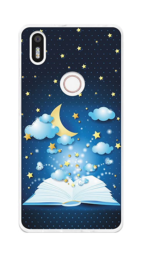 Tumundosmartphone Funda Gel TPU para BQ AQUARIS X5 Plus diseño Libro-Cuentos Dibujos