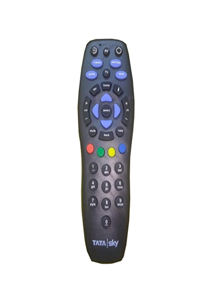 TATASKY Plastic Dth Remote Controller Black
