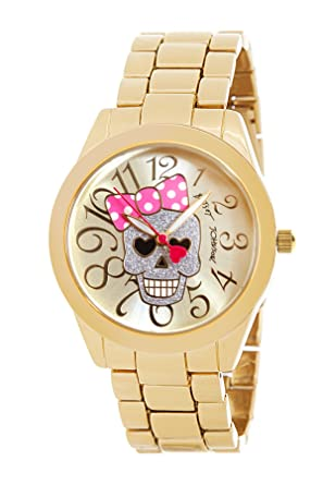 7db03d6b8801 Image Unavailable. Image not available for. Color  Betsey Johnson Women s  Watch BJ00519-02 Gold ...