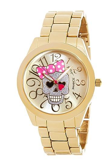 Betsey Johnson mujer reloj bj00519 - 02 Oro Calavera lazo: Betsey Johnson: Amazon.es: Relojes