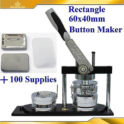 Amazon com : Rectangle 60x40mm Pro Badge Button Maker