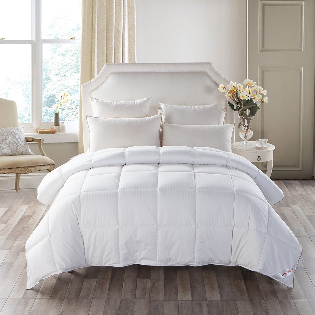 medium weight white goose down feather comforter warmth duvet insert 100 ebay. Black Bedroom Furniture Sets. Home Design Ideas