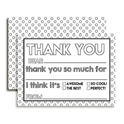 Amazon Color Your Own Birthday Thank You Notes For Kids Ten 4