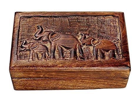 Amazon Com Rastogi Handicrafts Wooden Box Multipurpose With Hand