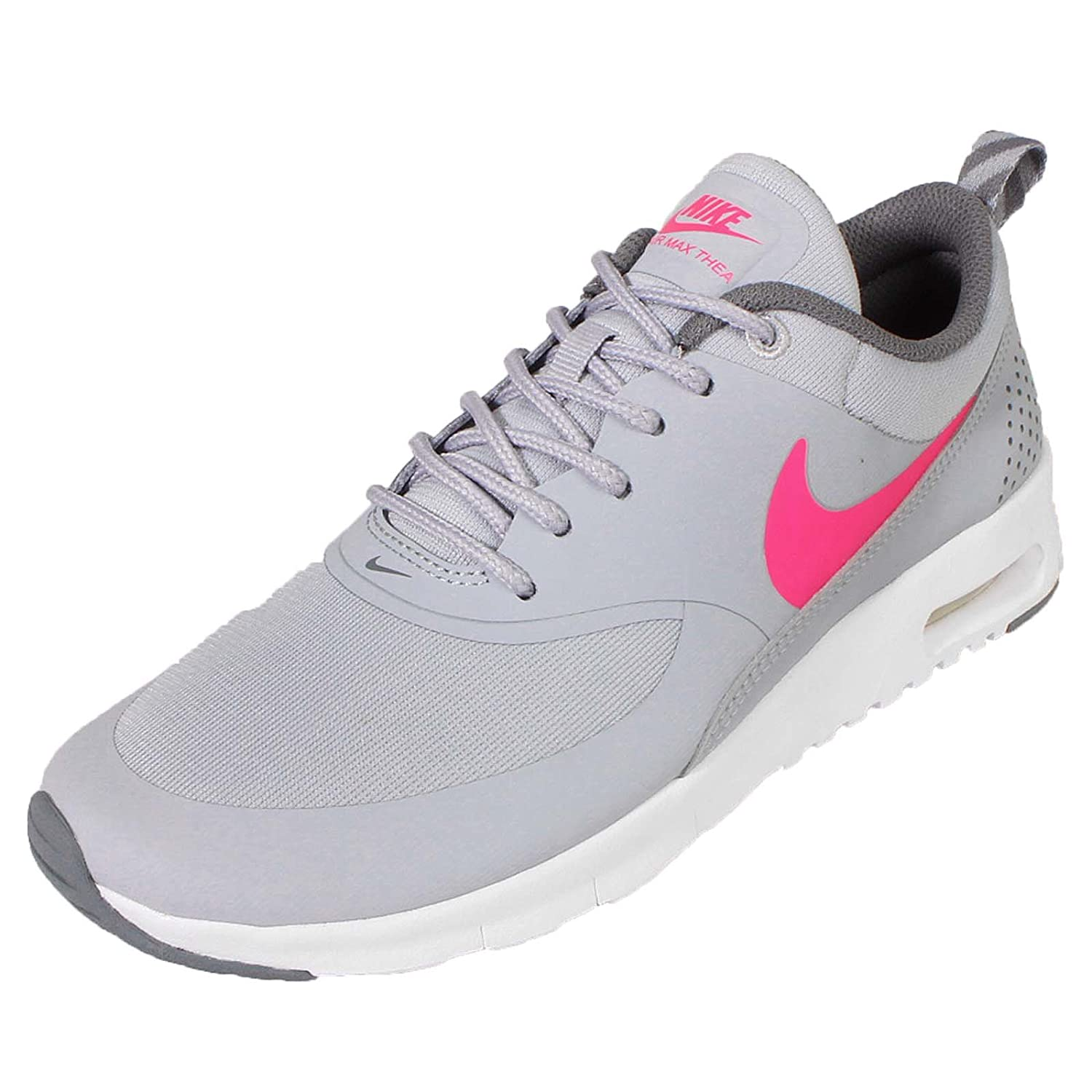 Nike Kids Air Max Thea GS, WOLF GREYHYPER PINK COOL GREY, Youth Size 6.5