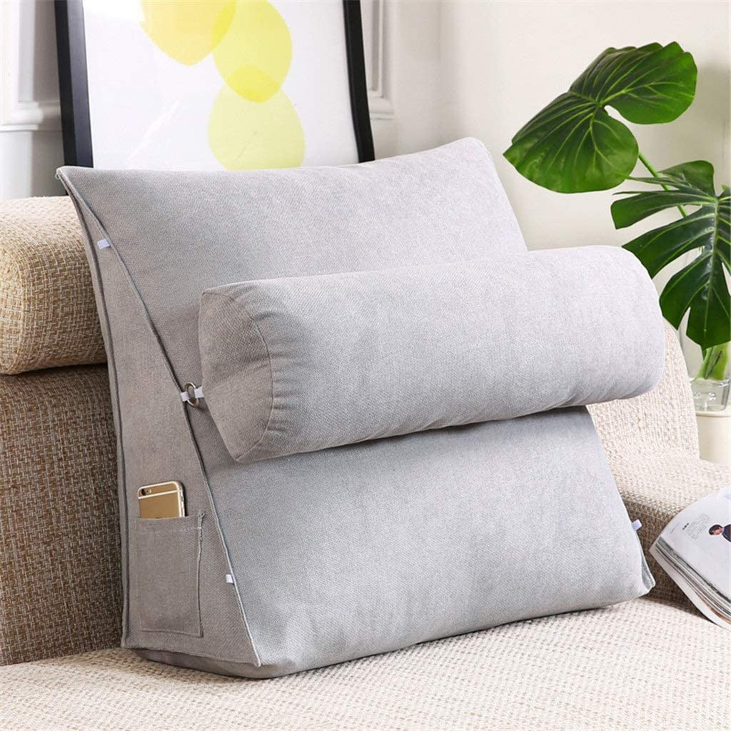 Sofa Pillow Reading Pillow Wedge Pillow for Bed and Couch Back Support Lumbar Pillow Removable Washable Color : A, Size : 45x45x20cm 6A5D Triangle Cushion
