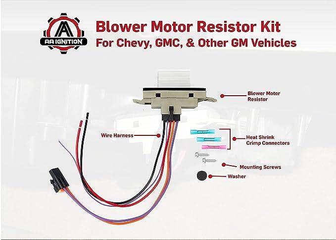 Amazon Blower Motor Resistor Plete Kit With Harness Rhamazon: 15305077 Blower Motor Resistor Wiring Diagram At Gmaili.net