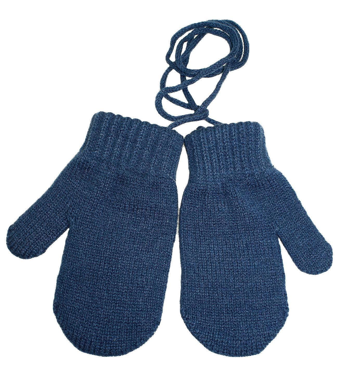 EveryHead Fiebig Jungenhandschuhe Strickhandschuhe Fausthandschuhe Winterhandschuhe Strickfäustel Handschuh Magic mit Band für Kinder (FI-78561-W18-JU1) inkl Hutfibel