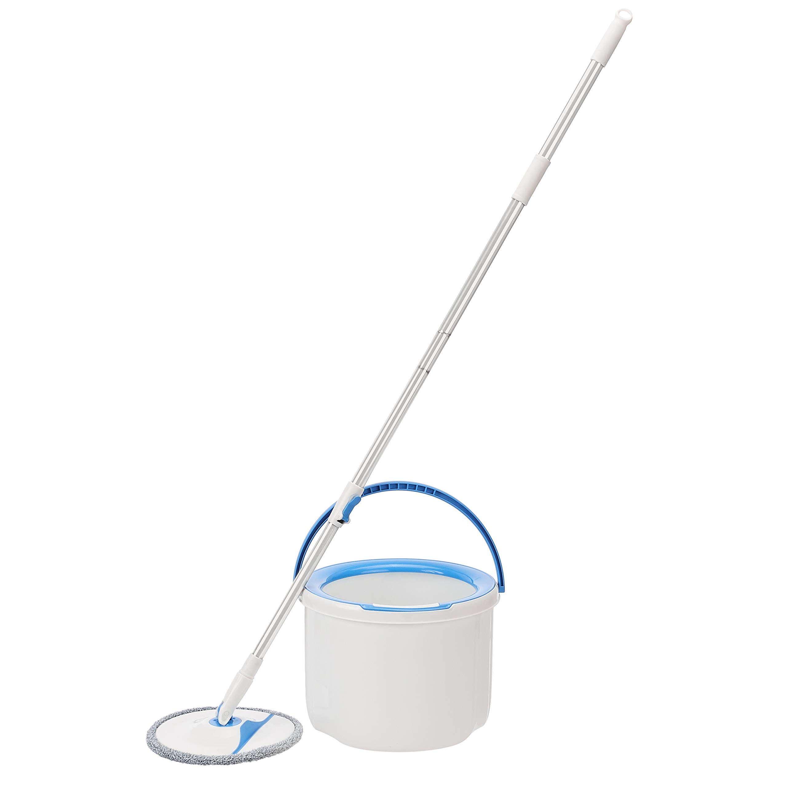 Amazon Basics Spin Mop with Built-In Ringer and Standard Water Bucket