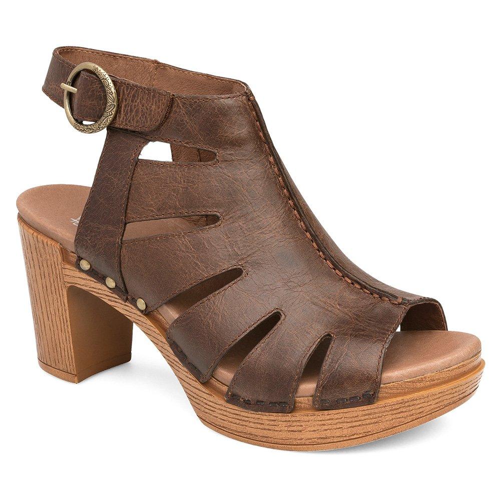 Dansko Women's Demetra Ankle Bootie, Teak Vintage Pull up, 42 EU/11.5-12 M US
