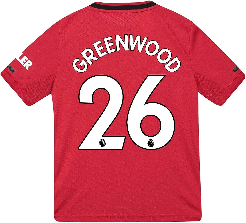 Manchester United FC - Camiseta de Primera equipación para niños - 2019/20 - Rojo - Greenwood 26-15-16 años: Amazon.es: Ropa y accesorios