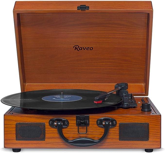 Caixa De Som Vitrola Retrô Hi-Fi Raveo Sonetto Wood Com Toca-Discos, Cassete, CD, Bluetooth e USB Reproduz E Grava Em Mp3 por Raveo