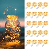 MUMUXI 20 Pack Fairy Lights Battery Operated, 3.3ft 20 LED Mini Waterproof Fairy String Lights Copper Wire Firefly…