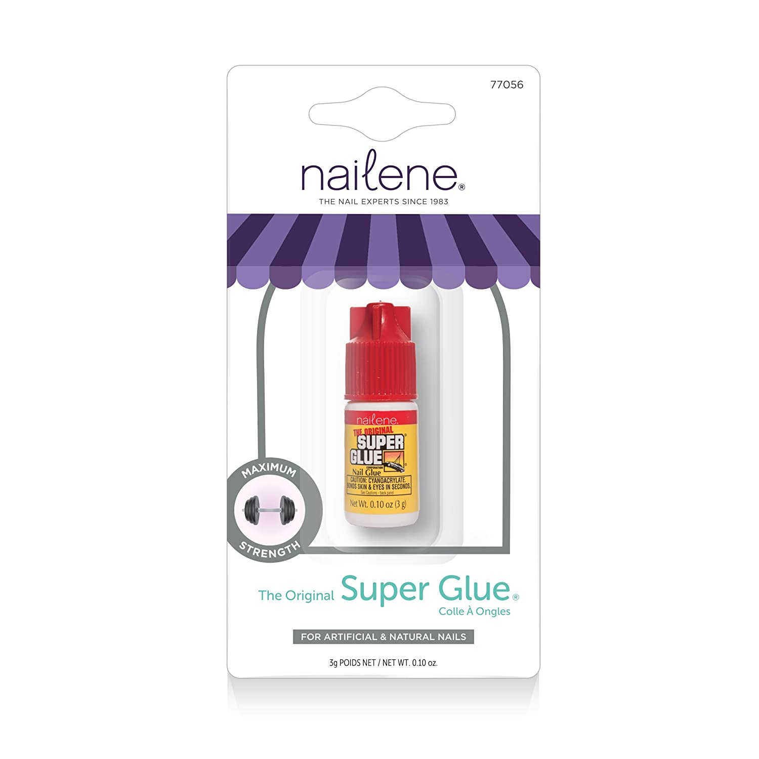 Nailene Super Glue Nails, 11.339g Pacific World Corporation 77056