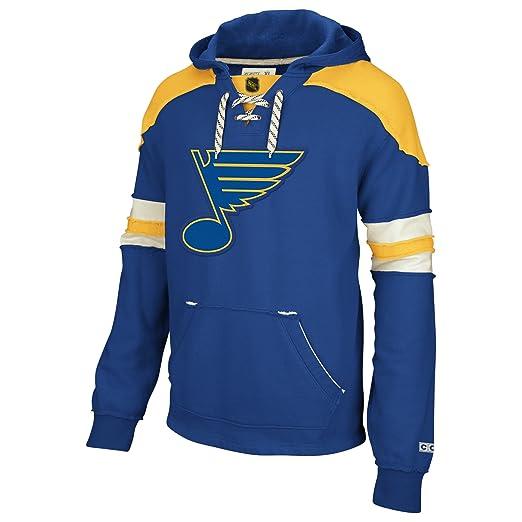 237fb848d3 Amazon.com : NHL St. Louis Blues CCM Pullover Hoodie, Large : Sports ...
