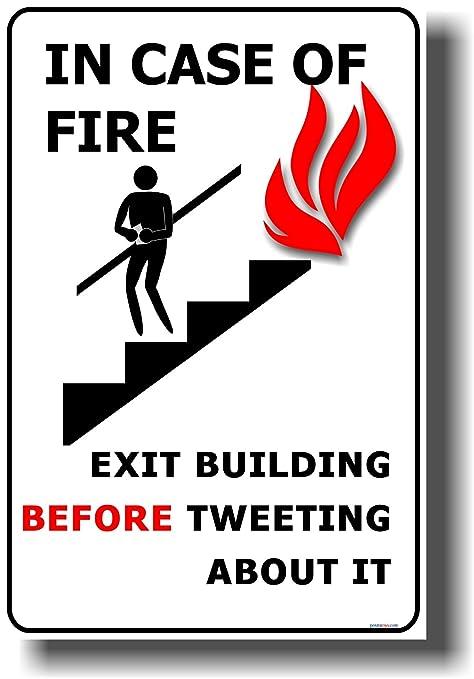 Amazon.com: En caso de incendio – Edificio de salida antes ...