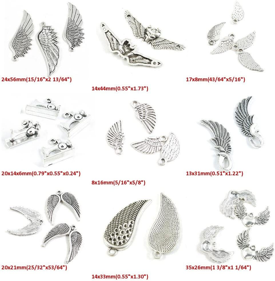 The Ultimate Wing Charms Collection 22 antique silver tone charms