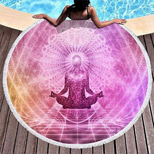 Dhmaße - Manta para meditación, Chakra, Buda, Redonda, para ...
