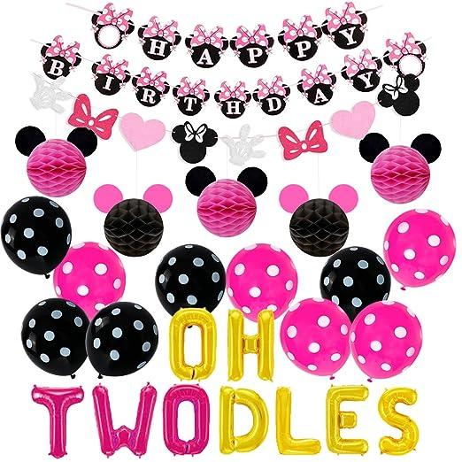 Suministros de la fiesta de cumpleaños de Minnie Mouse Oh ...