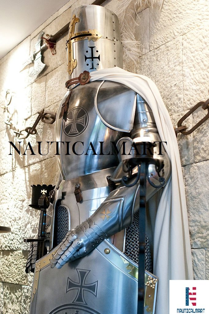 Medieval Wearable Knight Crusader Full Suit of Armor Costume by NAUTICALMART (Image #2)