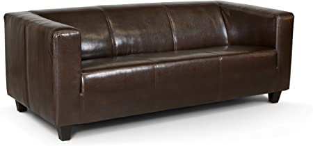 Collection Ab 3 Sitzer Sofa Kuba 186 X 88 Cm Kunstleder Braun