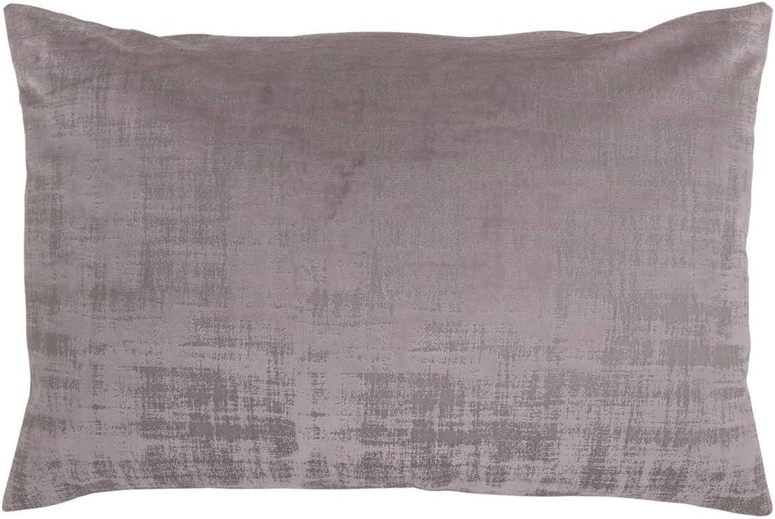 Antilo - Funda de cojín BAKER 60x40 - Color Malva (Decoración para la cama o el sofá, complemento ideal para dormitorio y salón de diseño moderno)