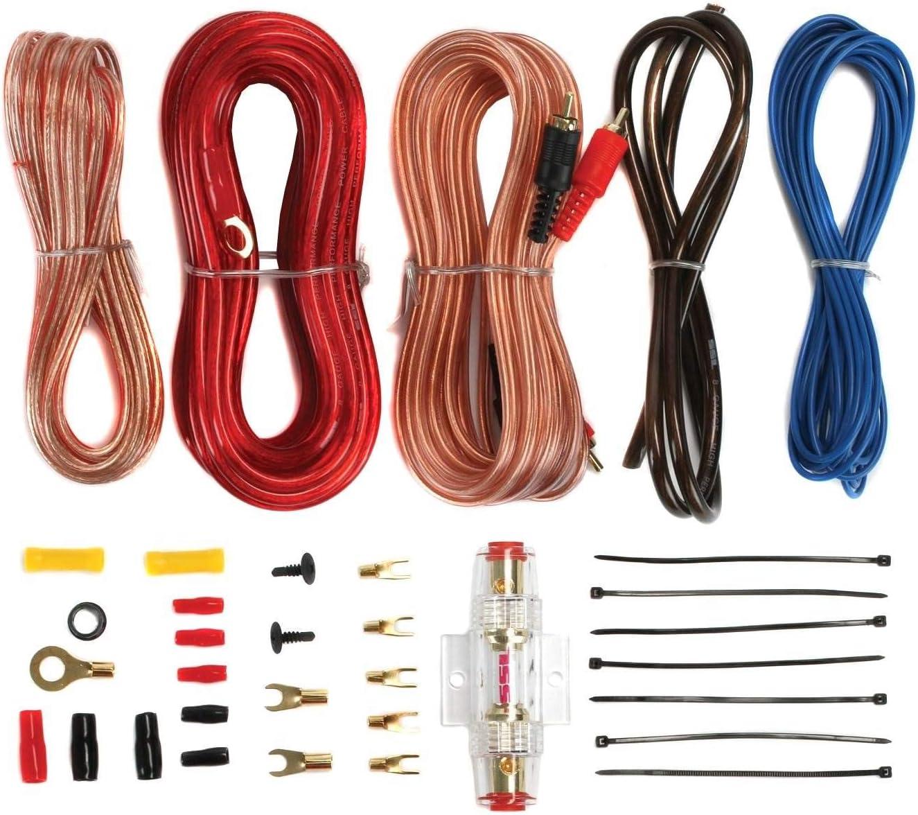 Kicker 44TCWC104 10 600W Subwoofer+Slim Box+Boss AR1500M 1500W Mono Amp+Amp Kit