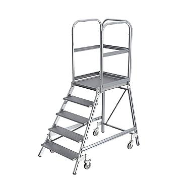 600/mm x 700/mm Plattform 4/Stufen 0.95/m H/öhe KRAUSE  lfe143/Leiter Plattform einseitig