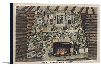 Amazon com: Bemidji, MN - View of the Fireplace of States