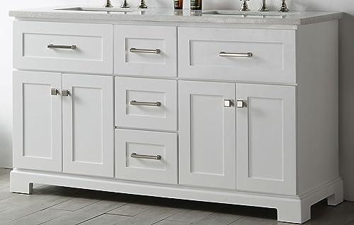 Legion Furniture WH7660-W 60″ wood sink vanity