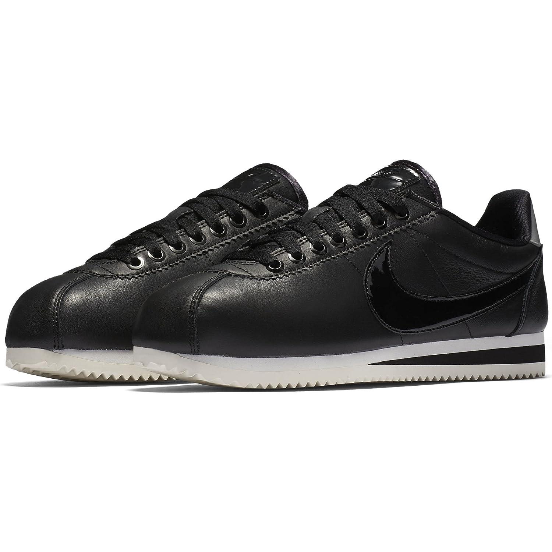 NIKE Women's Classic Cortez Leather Casual Shoe B0763RV2YY 6 B(M) US|Black/Black-reflect Silver