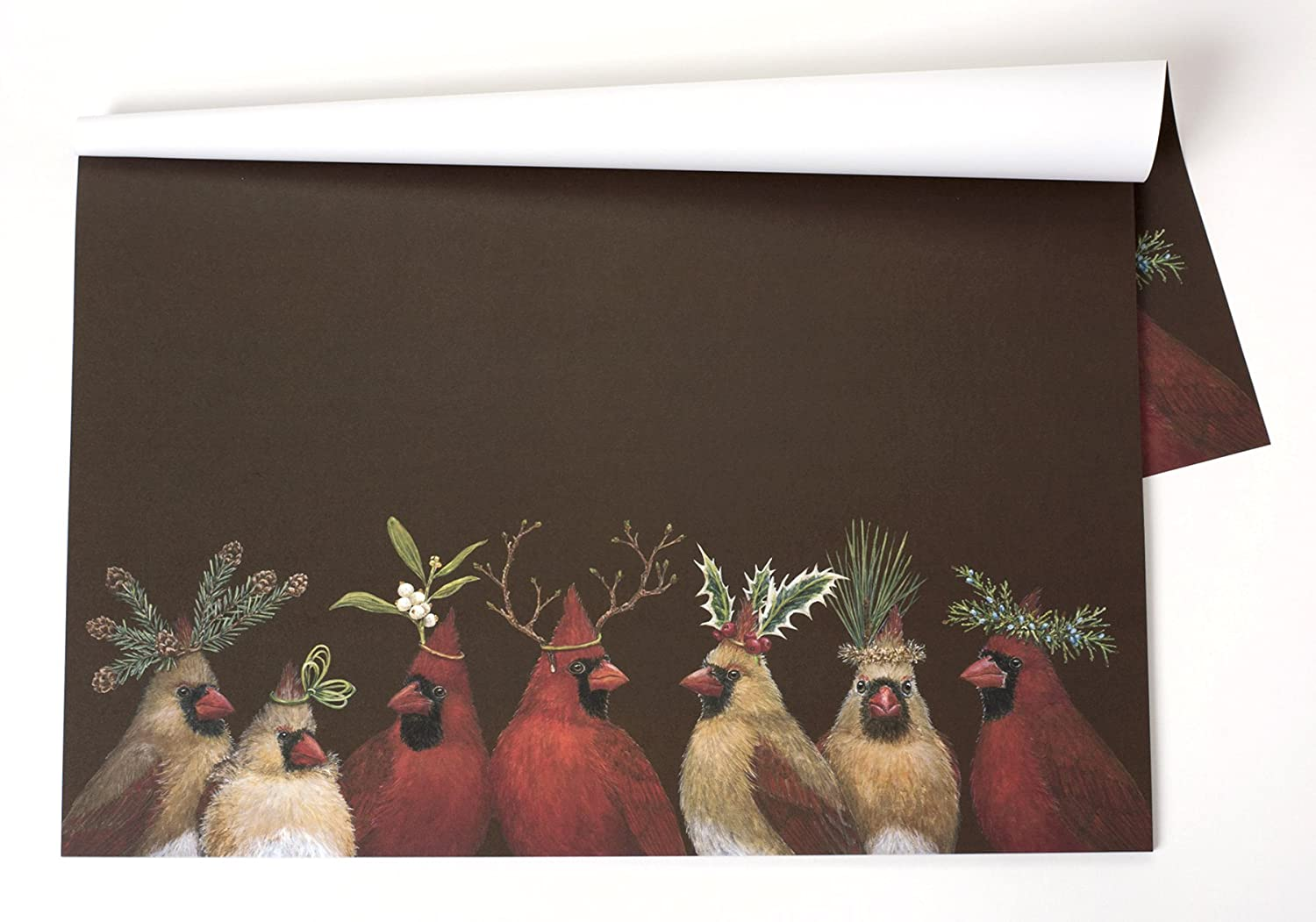 Christmas Cardinal Fabric Placemats Set Of 4