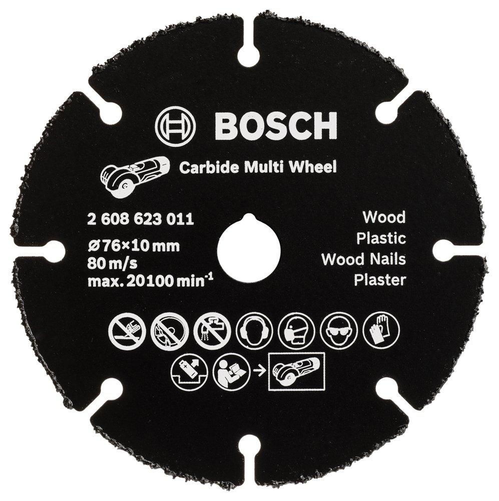 Bosch Professional - Disco de corte de metal duro MultiWheel para amoladora, 76 mm 2608623011