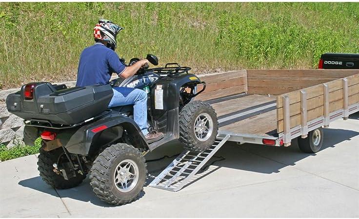 Black Widow S-4816-2000-2 48 Straight Aluminum Trailer Loading Ramps