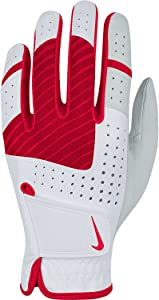 Nike Golf Women's Tech Xtreme V Regular Glove (Left), White/Laser Crimson/Fruit Punch,