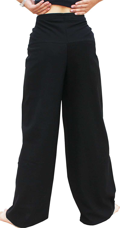 Raan Pah Muang RaanPahMuang Warm Cotton Handmade Front Tie Yoga Pants With Alien Print variant38890AMZ