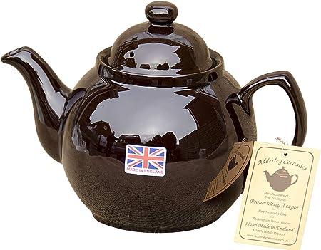 8 cup U.K Tea Pot Brown Betty Teapot Made by Adderley Ceramics