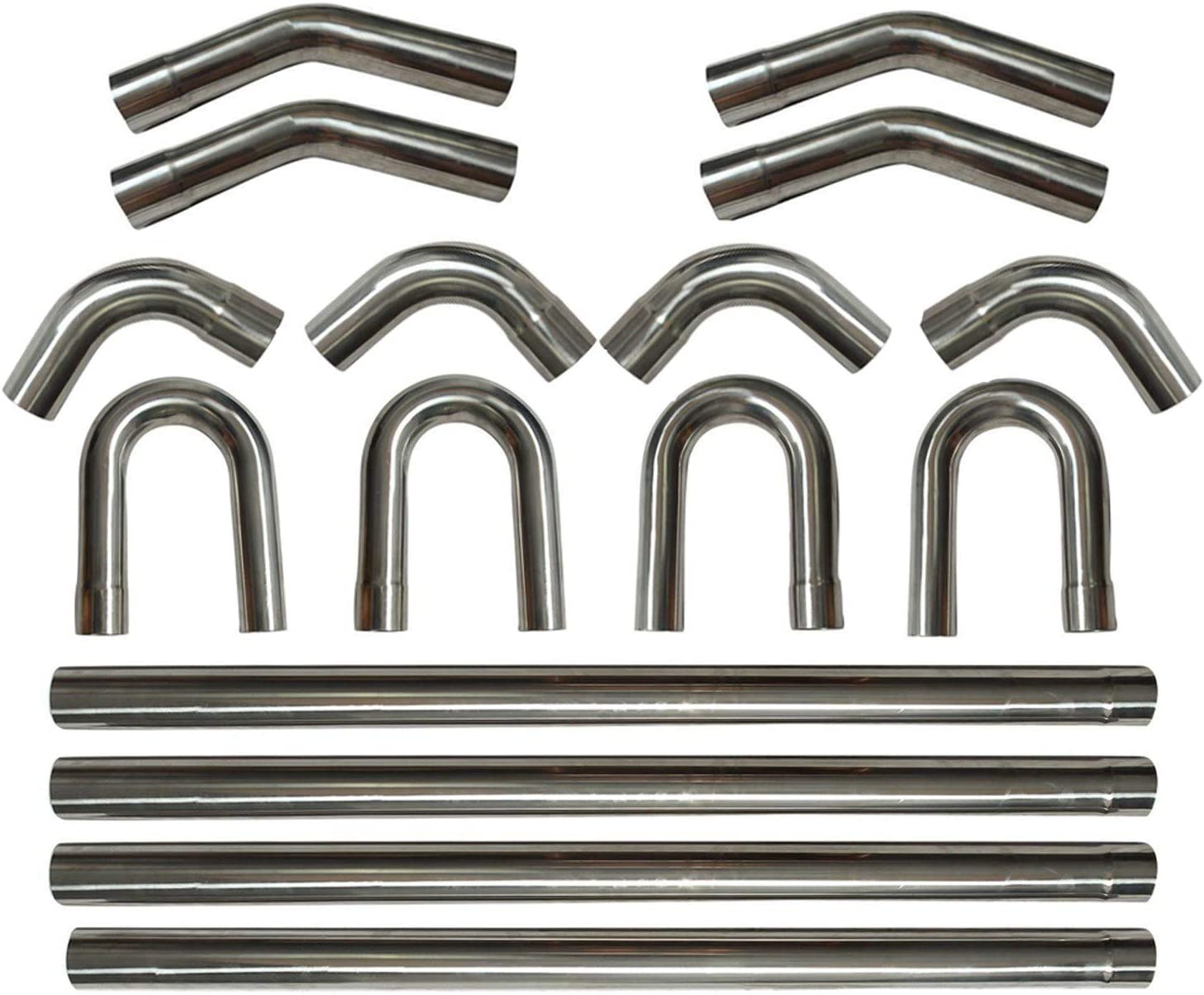 """3/""""  51mm 76mm Exhaust Bend 304 Stainless Steel Equal Tee T Piece Y Pipe 2/"""""""