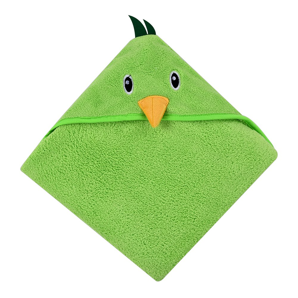 Baby Hooded Towel, Baby Bath Towel Wrap by Dopup, Soft Lightweight Towel for Baby Boys, Baby Girls, Children, Kids, Cute Animal Design (Green Birds)