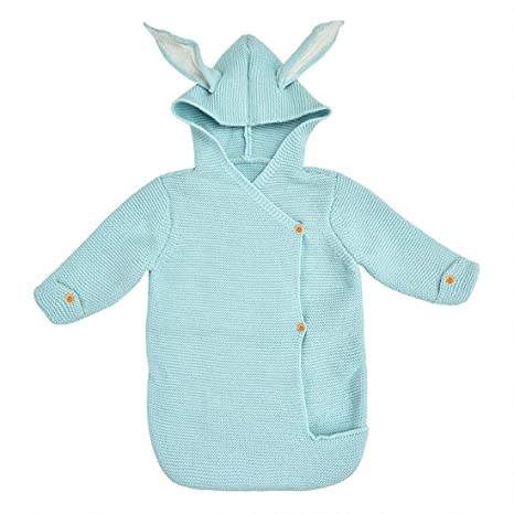 Saco de dormir de orejas de conejo lindo para bebé Saco de dormir de ...