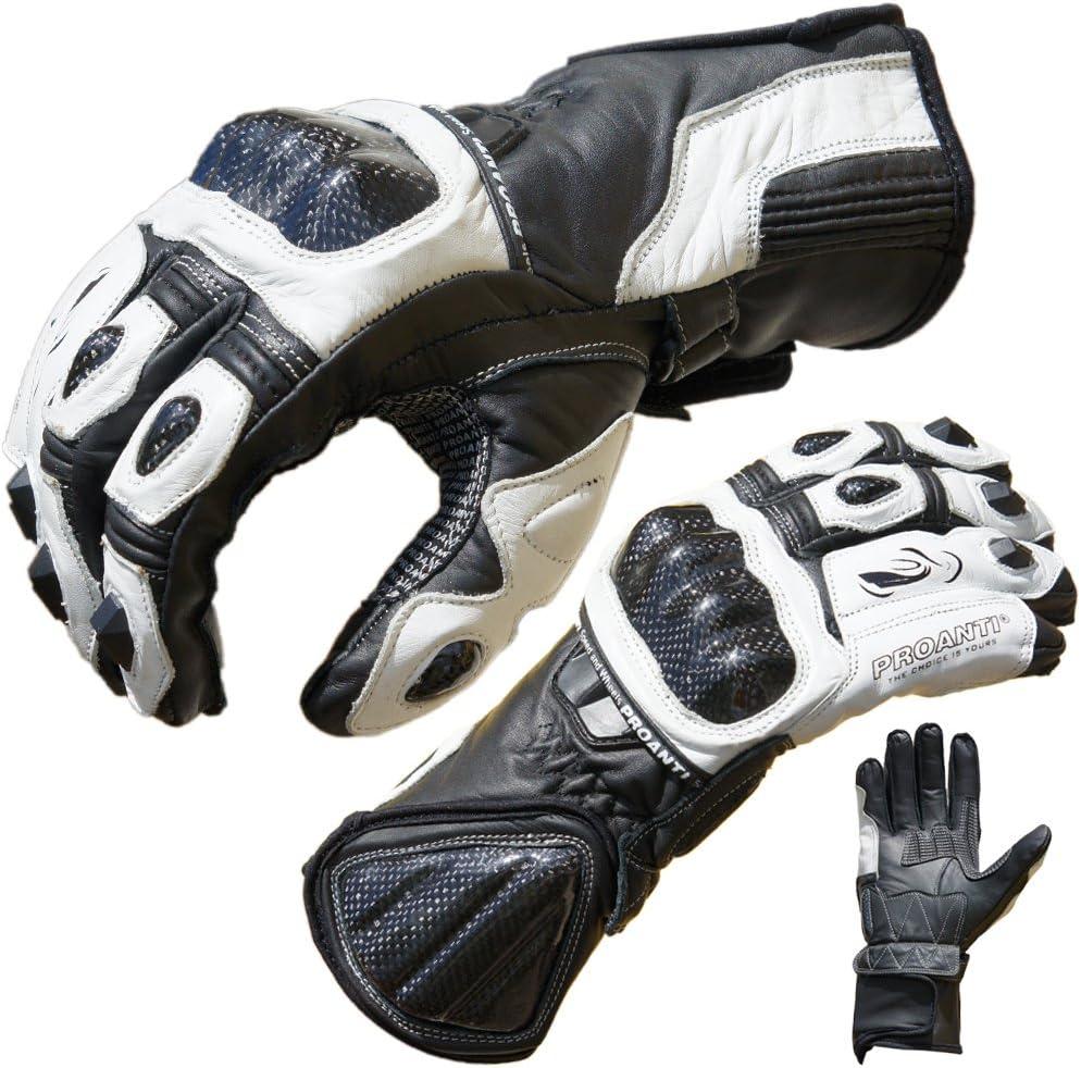 PROANTI Motorradhandschuhe Pro Racing Motorrad Leder Handschuhe Gr/ö/ßen M-XL