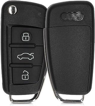 Kwmobile Autoschlüssel Gehäuse Kompatibel Mit Audi Elektronik