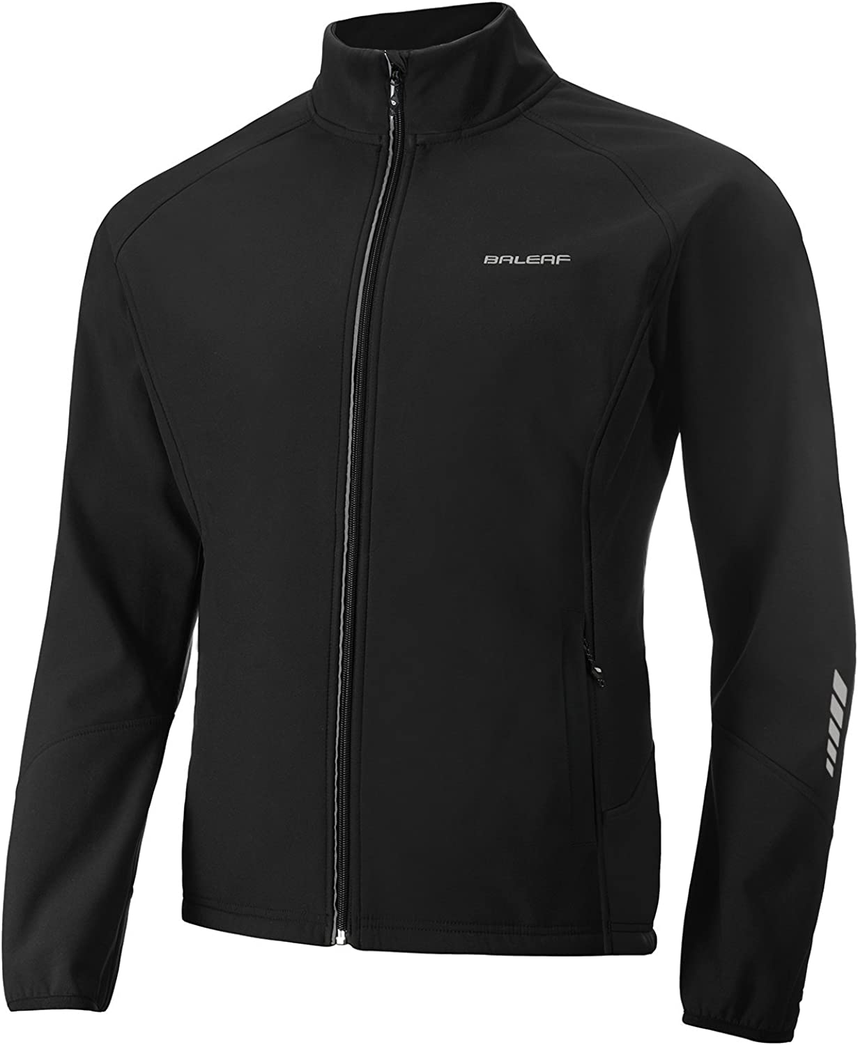 BALEAF Men's Windproof Cycling Running Jacket Thermal Softshell Water-Repellent Lightweight Windbreaker Winter : Clothing